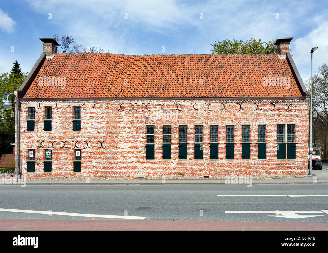 Norder Bürgerhaus from 1550, oldest preserved building in the city, the seat of the Norden Community Foundation, - Stock Image