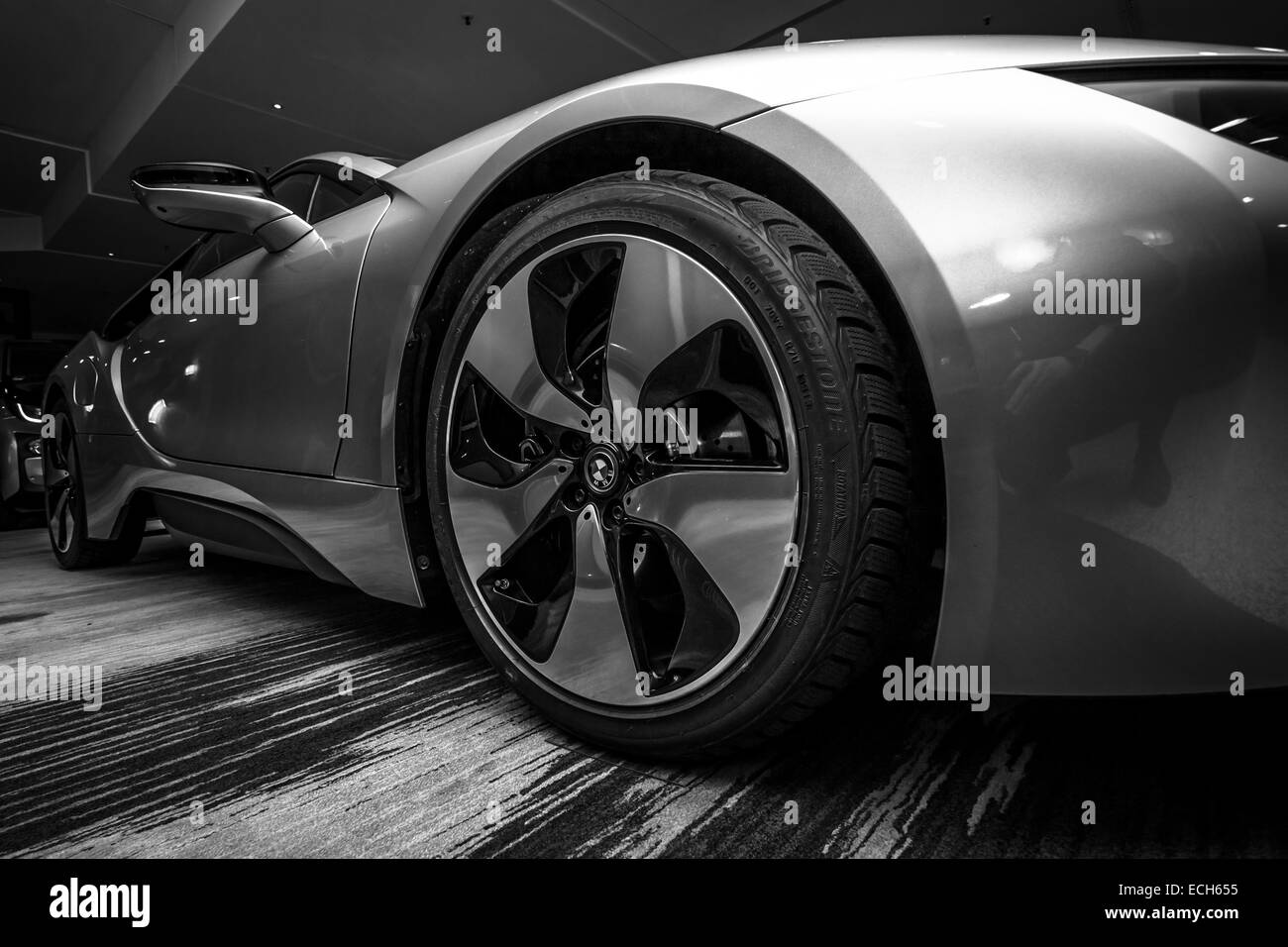 Showroom. BMW i8 - Stock Image