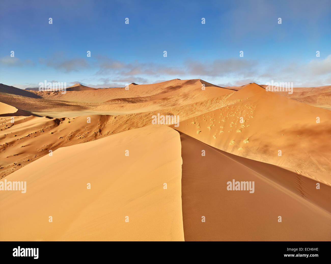 View From Dune 45 Sand Dunes Sossusvlei Namib Desert