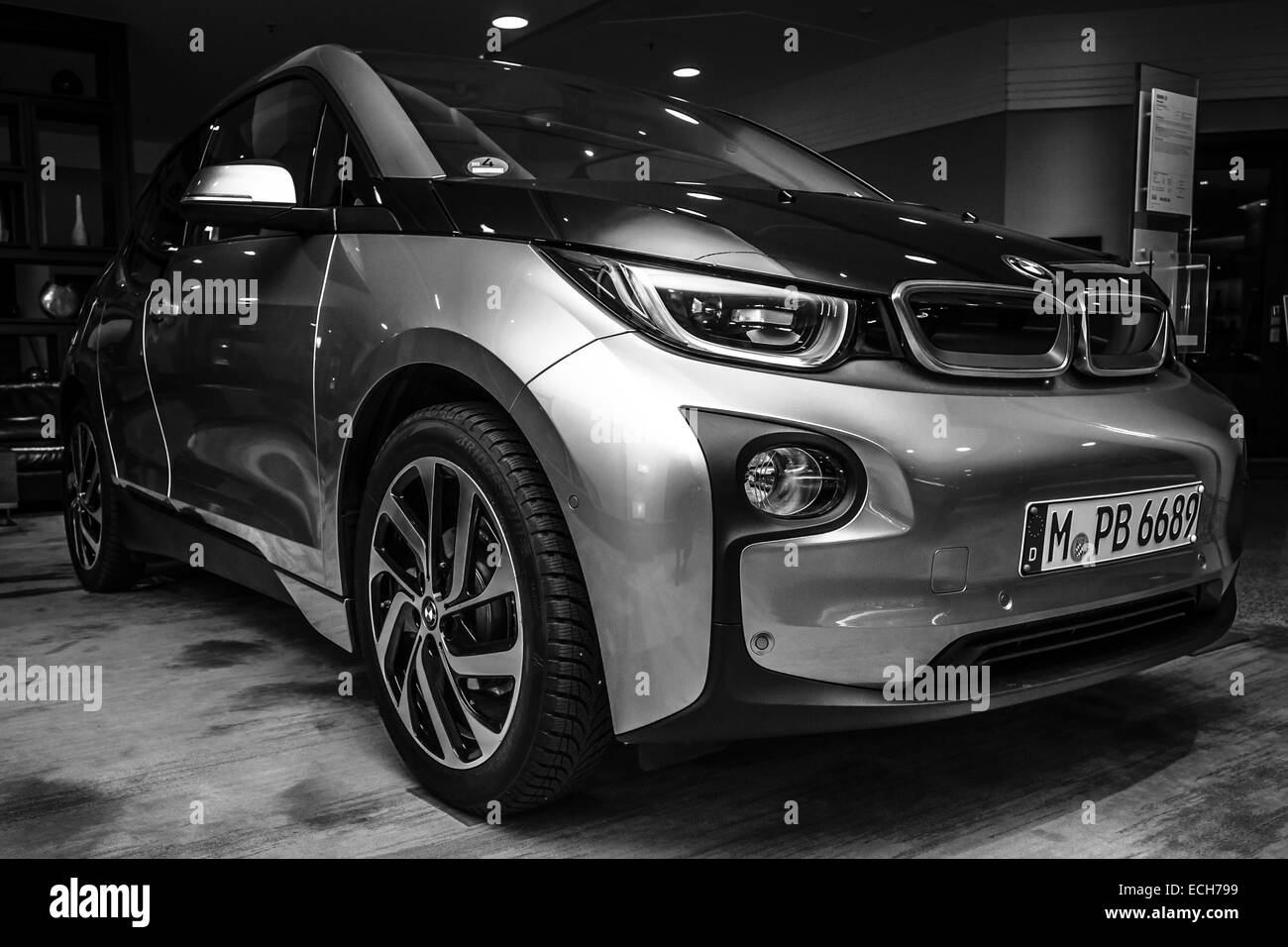 Showroom. BMW i3 - Stock Image