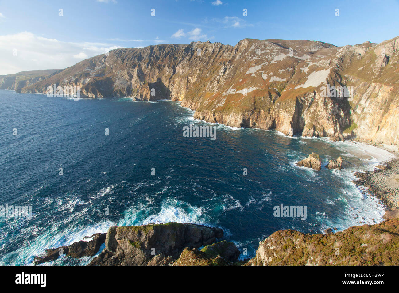 The Slieve League cliffs from Bunglass, County Donegal, Ireland. - Stock Image