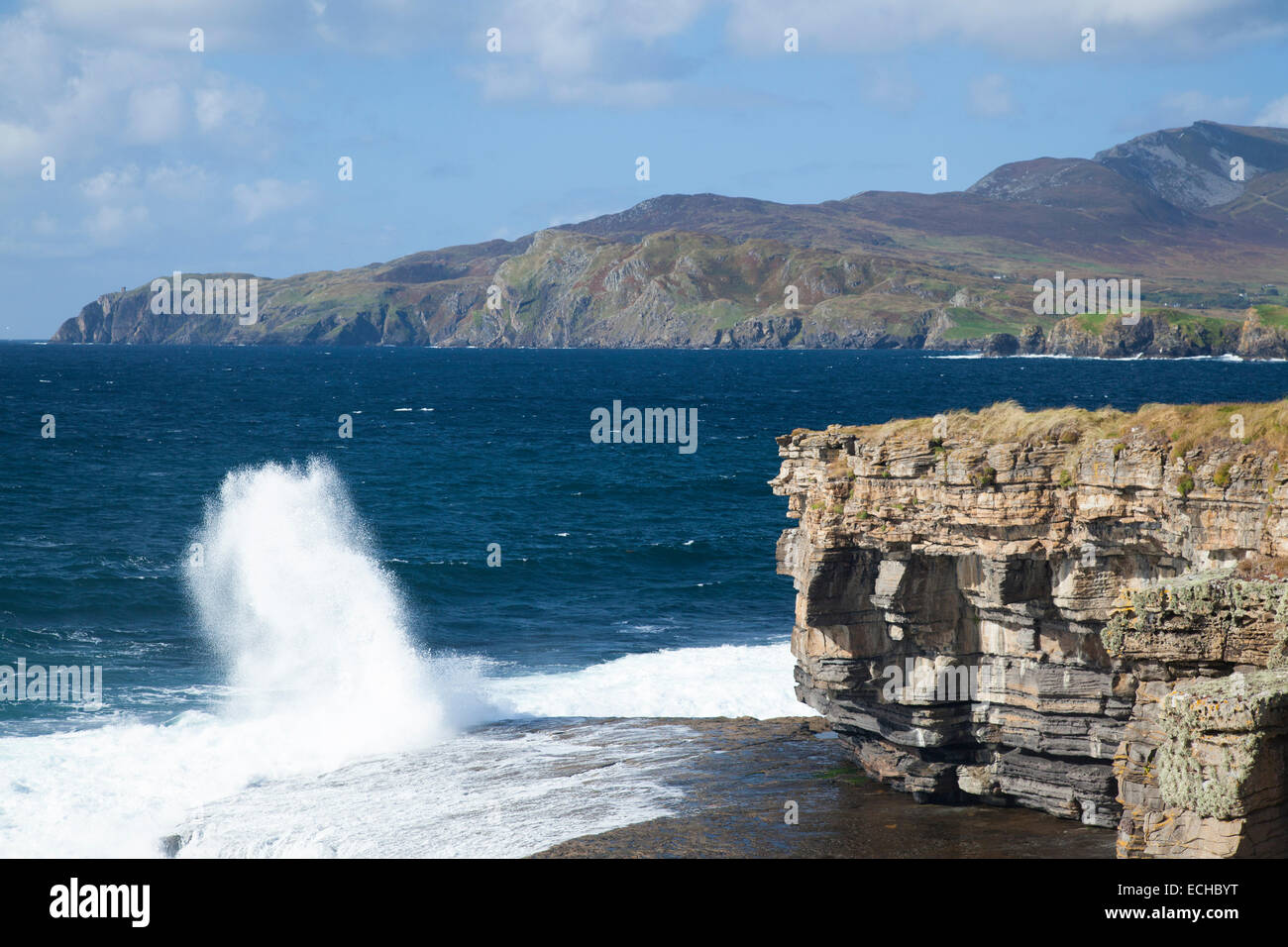 The cliffs of Muckross Head, County Donegal, Ireland. - Stock Image