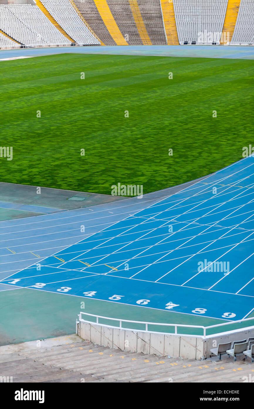 Barcelona.Olympic stadium Lluis Companys montjuic. - Stock Image