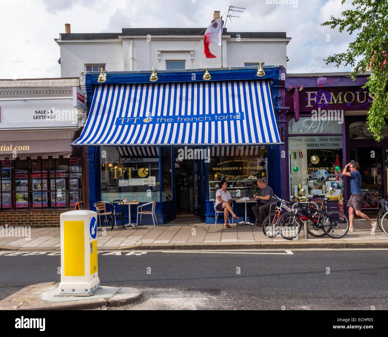 'The French Tarte' coffee shop and tearoom - Teddington High Street - Stock Image