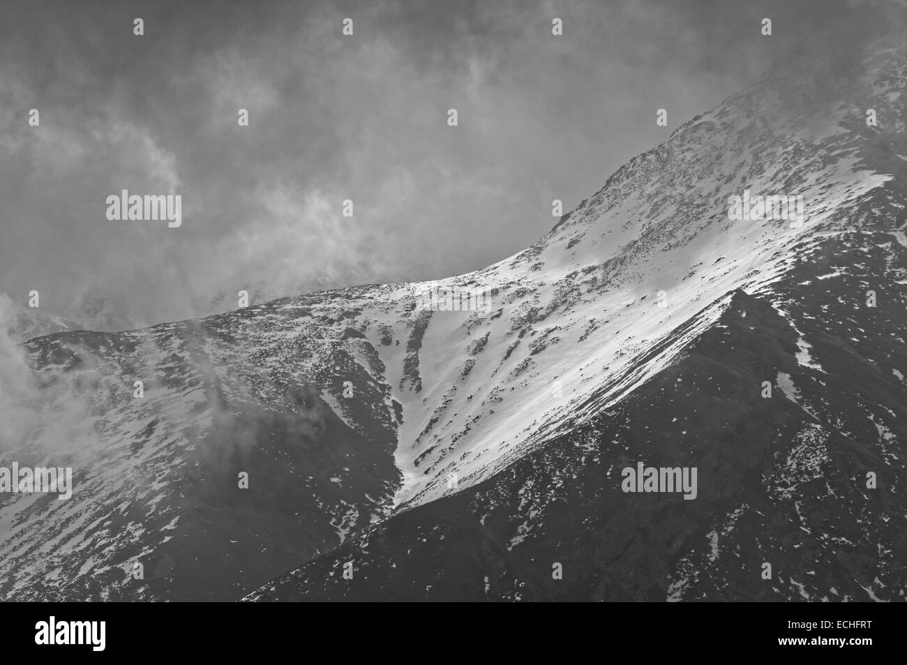 mighty mountains - Stock Image