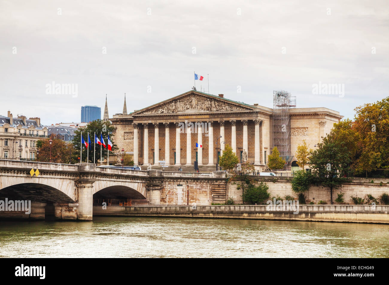 National Assembly (Assemblee  Nationale) building in Paris, France - Stock Image