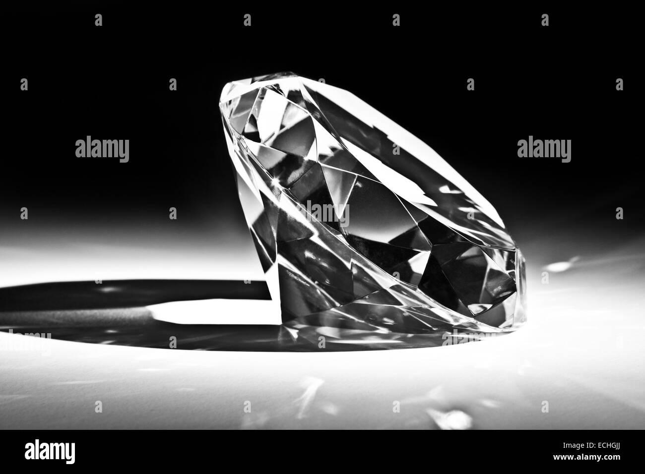 classic diamond close up image - Stock Image