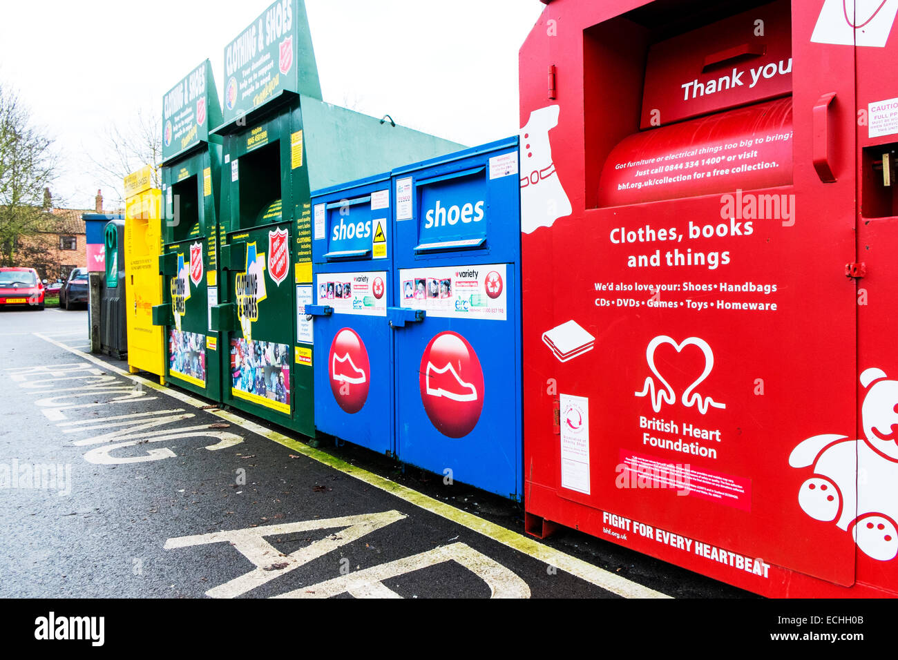 charity recycling bins stock photos charity recycling bins stock