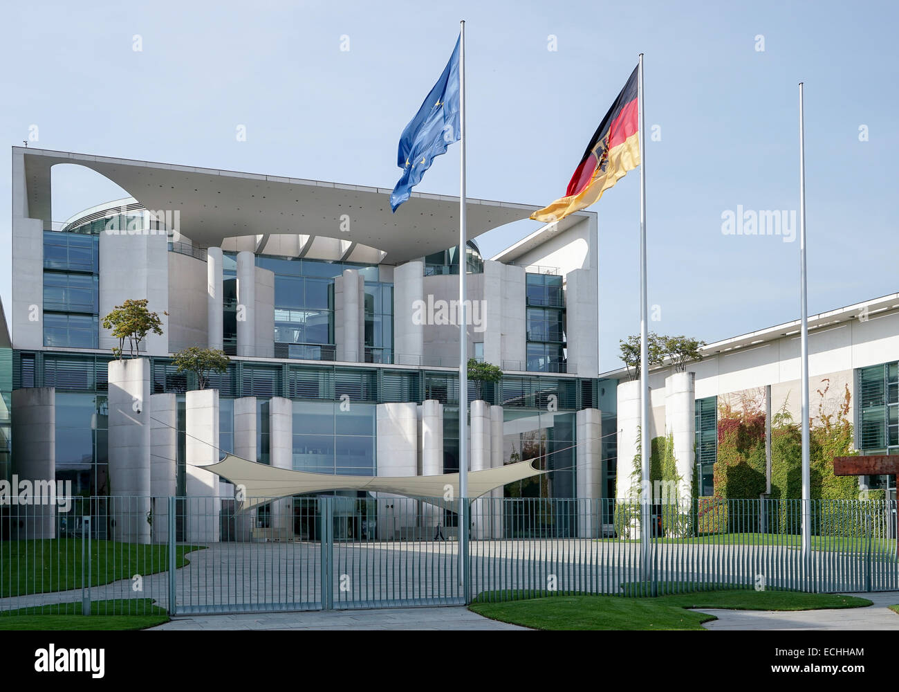 The Federal Chancellery building offical residence of the German Chancellor Angela Merkel in Berlin - Stock Image