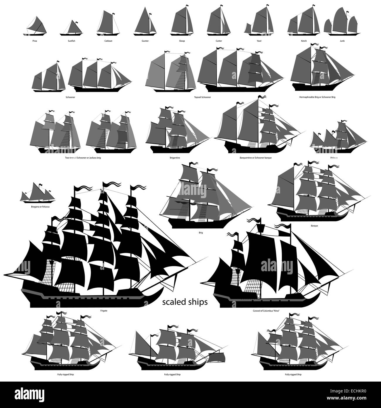 What are the types of ships 85