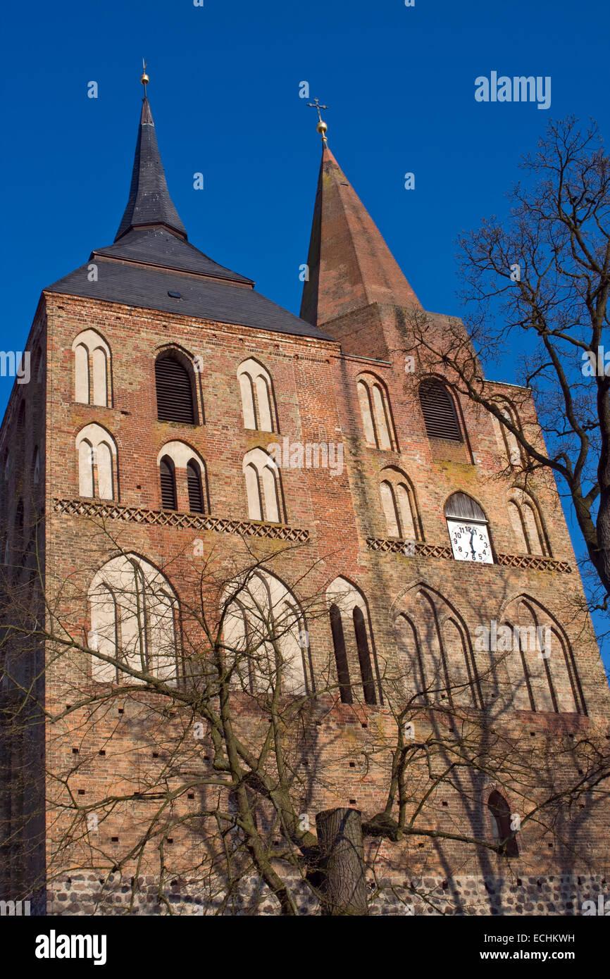 Europa, Deutschland, Brandenburg, Gransee, St. Marienkirche - Stock Image
