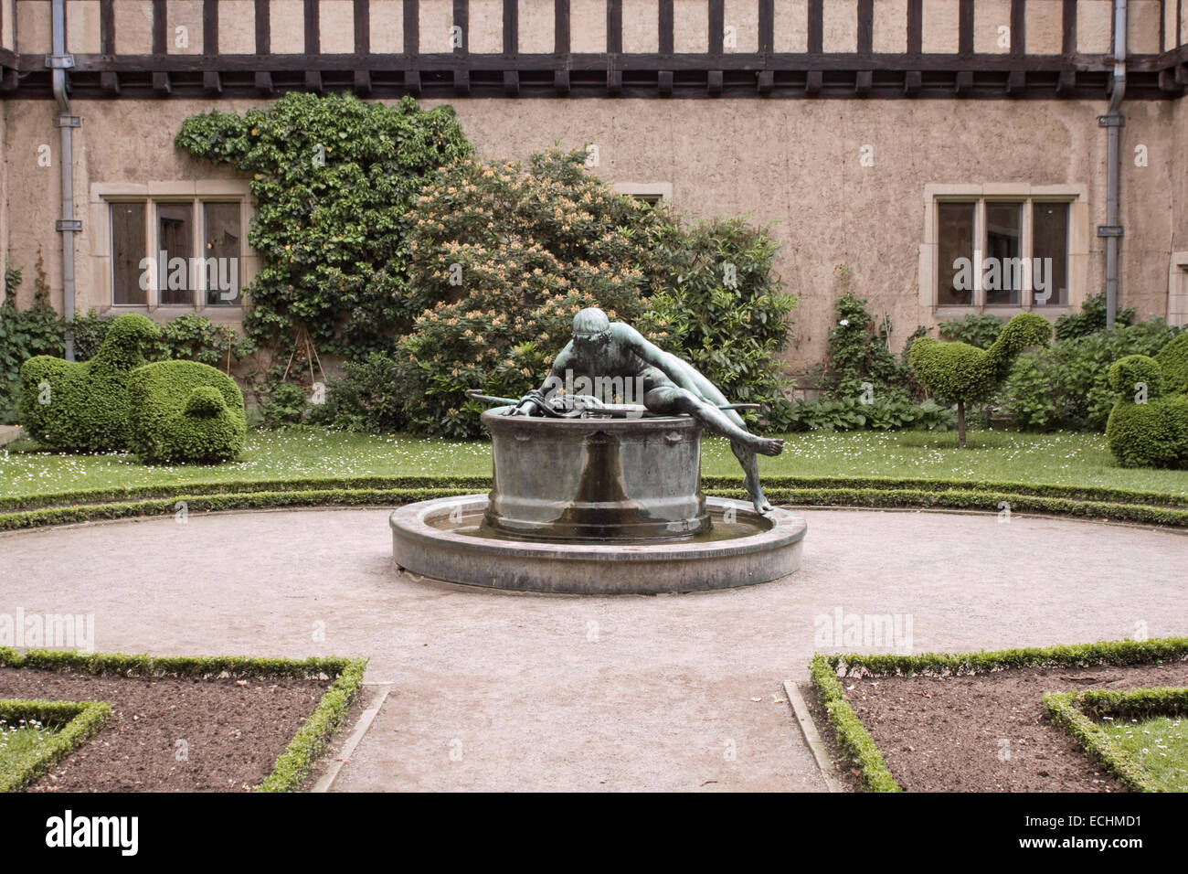 Europe, Germany, Brandenburg, Potsdam, New Garden, Cecilienhof Castle,park - Stock Image