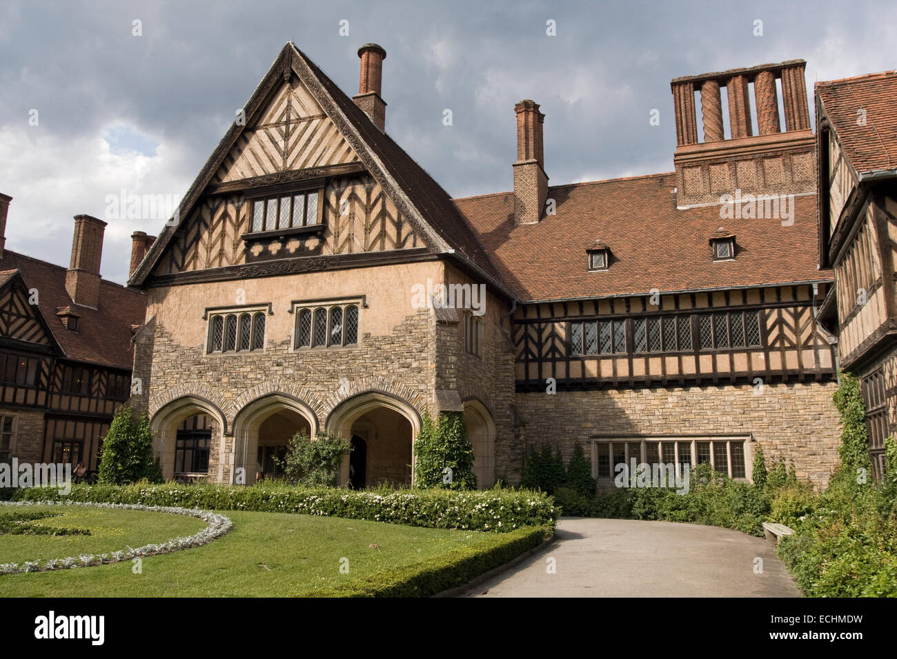 Europe, Germany, Brandenburg, Potsdam, New Garden, Cecilienhof Castle - Stock Image