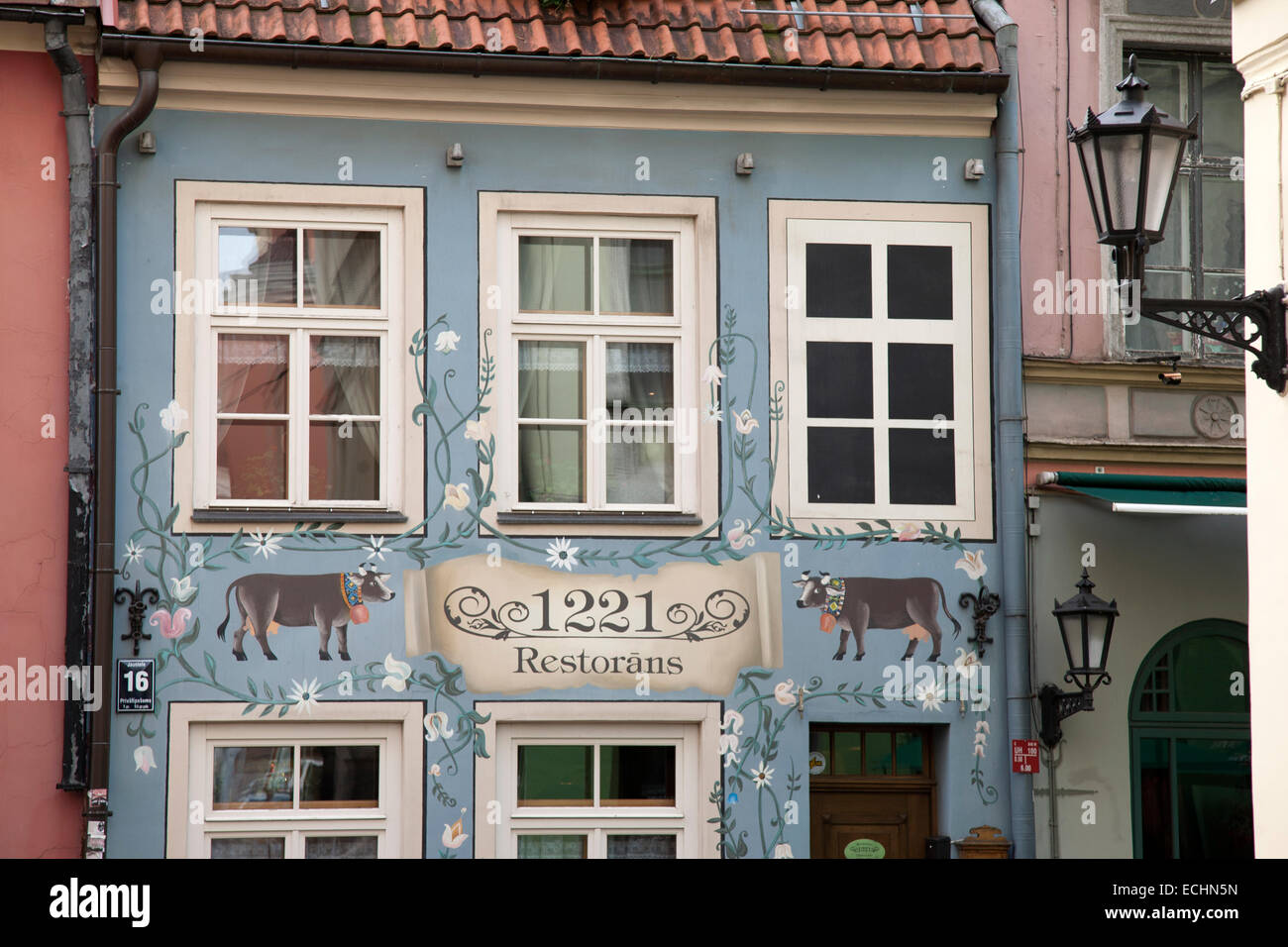 1221 Restaurant, Riga; Latvia - Stock Image