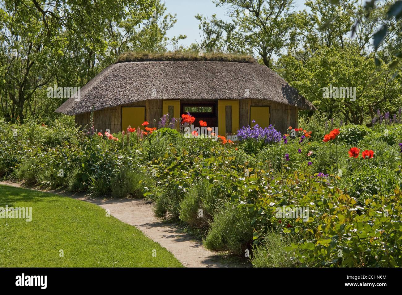 Europe, Germany, Schleswig Holstein, Neukirchen, Seebuell, Nolde Foundation, the garden with garden cottage - Stock Image