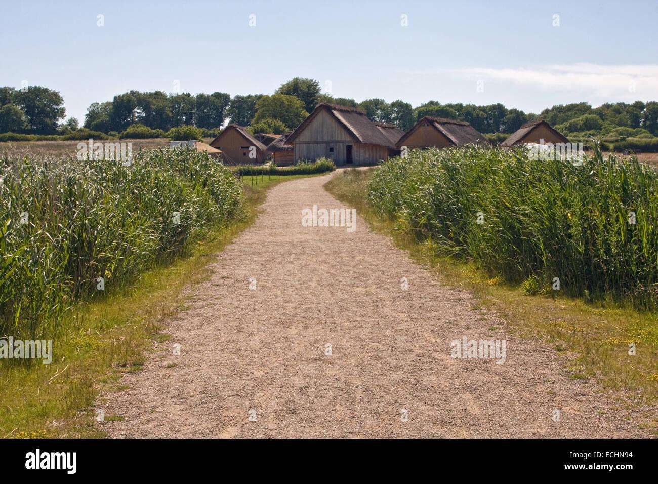 Haithabu, Haddeby, Hedeby, Haddebyer Noor, Schleswig-Holstein, Germany, Europe - Stock Image