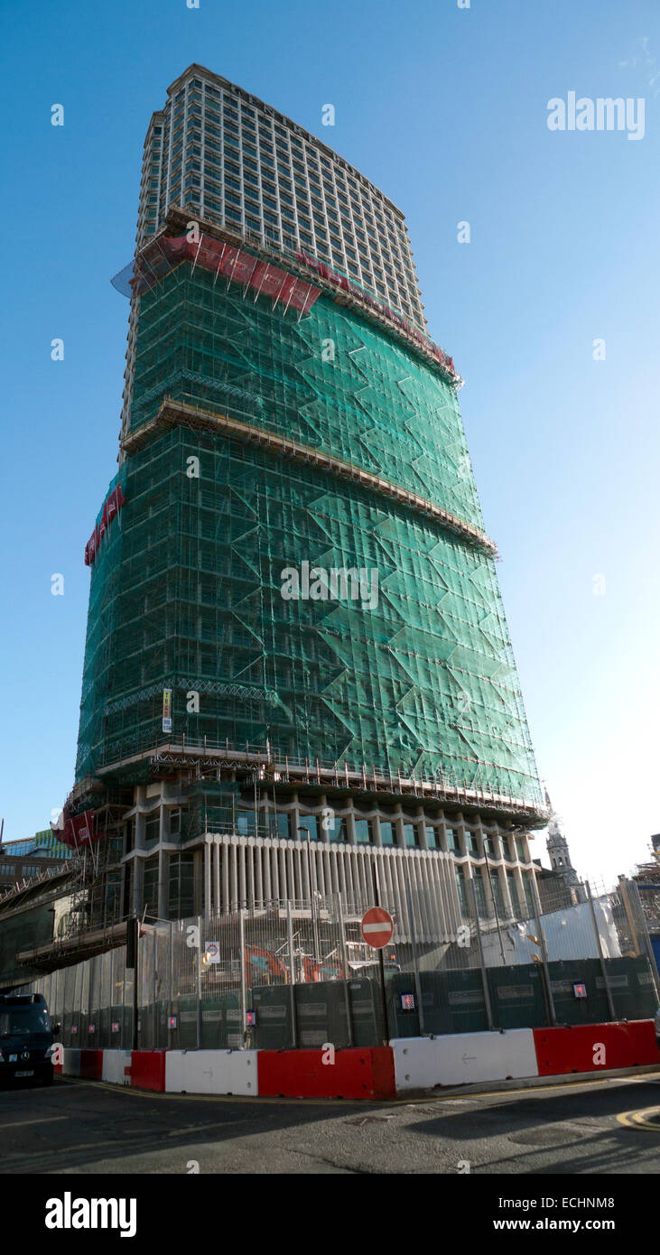 Centre Point Building undergoes facelift in preparation for luxury flats in Tottenham Court Road London UK  KATHY Stock Photo