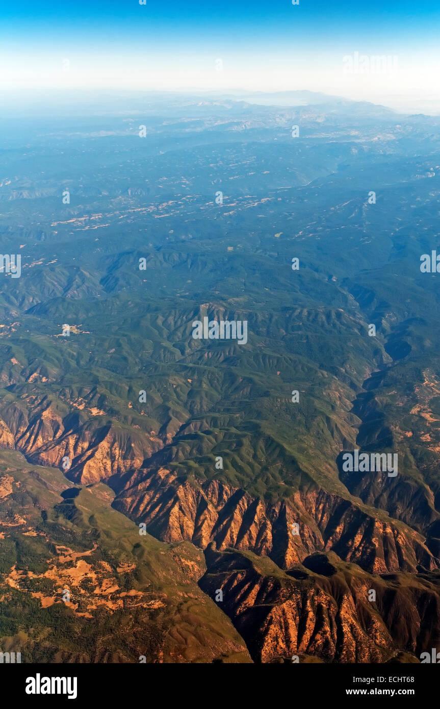 Sierra Nevada Mountain Range Aerial View California Usa Stock Photo Alamy