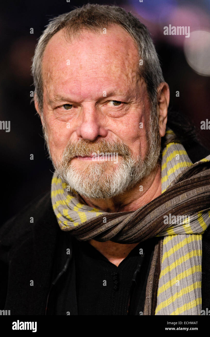 London, UK. 15th December, 2014. Terry Gilliam attends the Night at the Museum Secret of the Tomb European Premiere - Stock Image