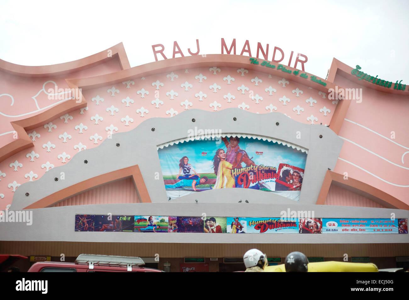 Jaipur, Raj Mandir cinema - Stock Image