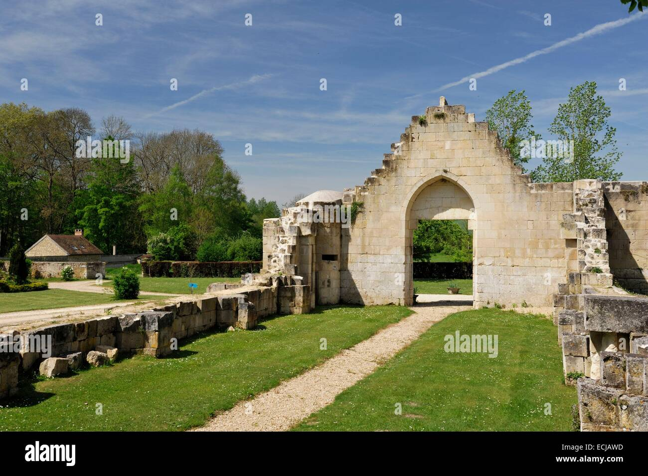 France, Aisne, Brumetz, Cerfroid convent or house of the Trinity Cerfroid founded by Saint John of Matha Provencal - Stock Image