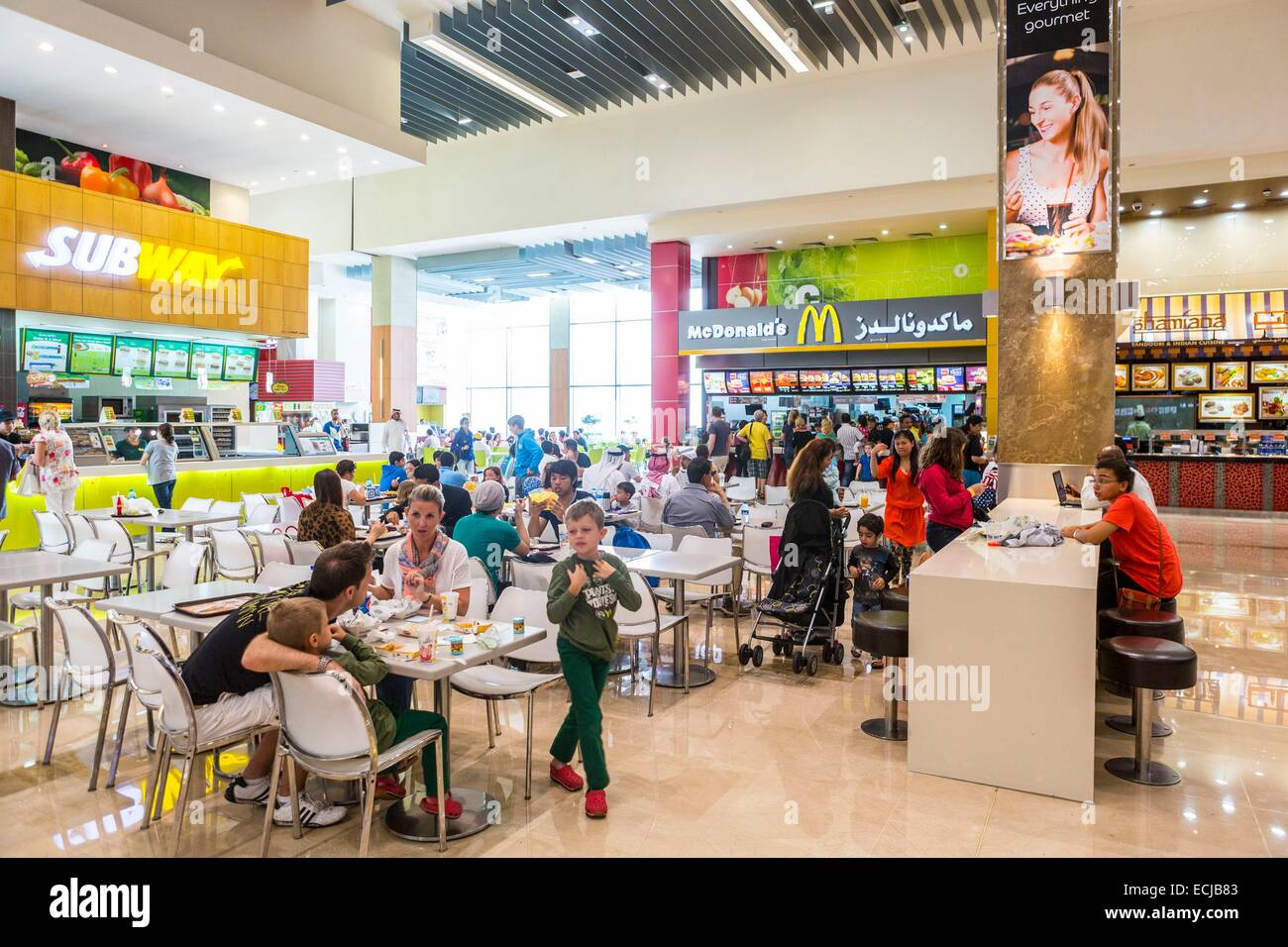 United Arab Emirates, Dubai, commercial center Dubai Mall, the largest in the world in 1200 stores, 836 000m2 - Stock Image