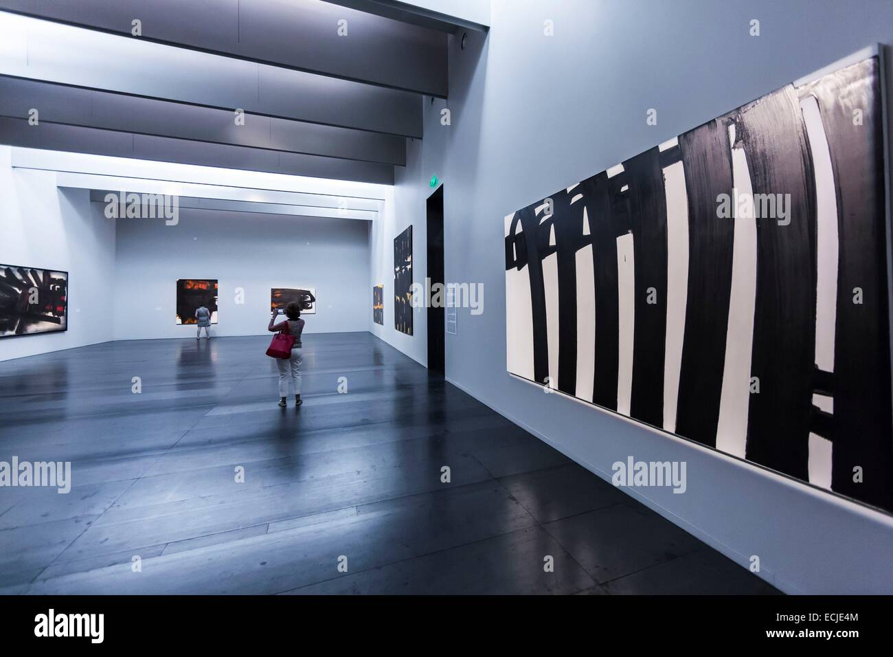 France, Aveyron, Rodez, Soulages Museum, designed by the Catalan architects RCR associated with Passelac & Roques - Stock Image