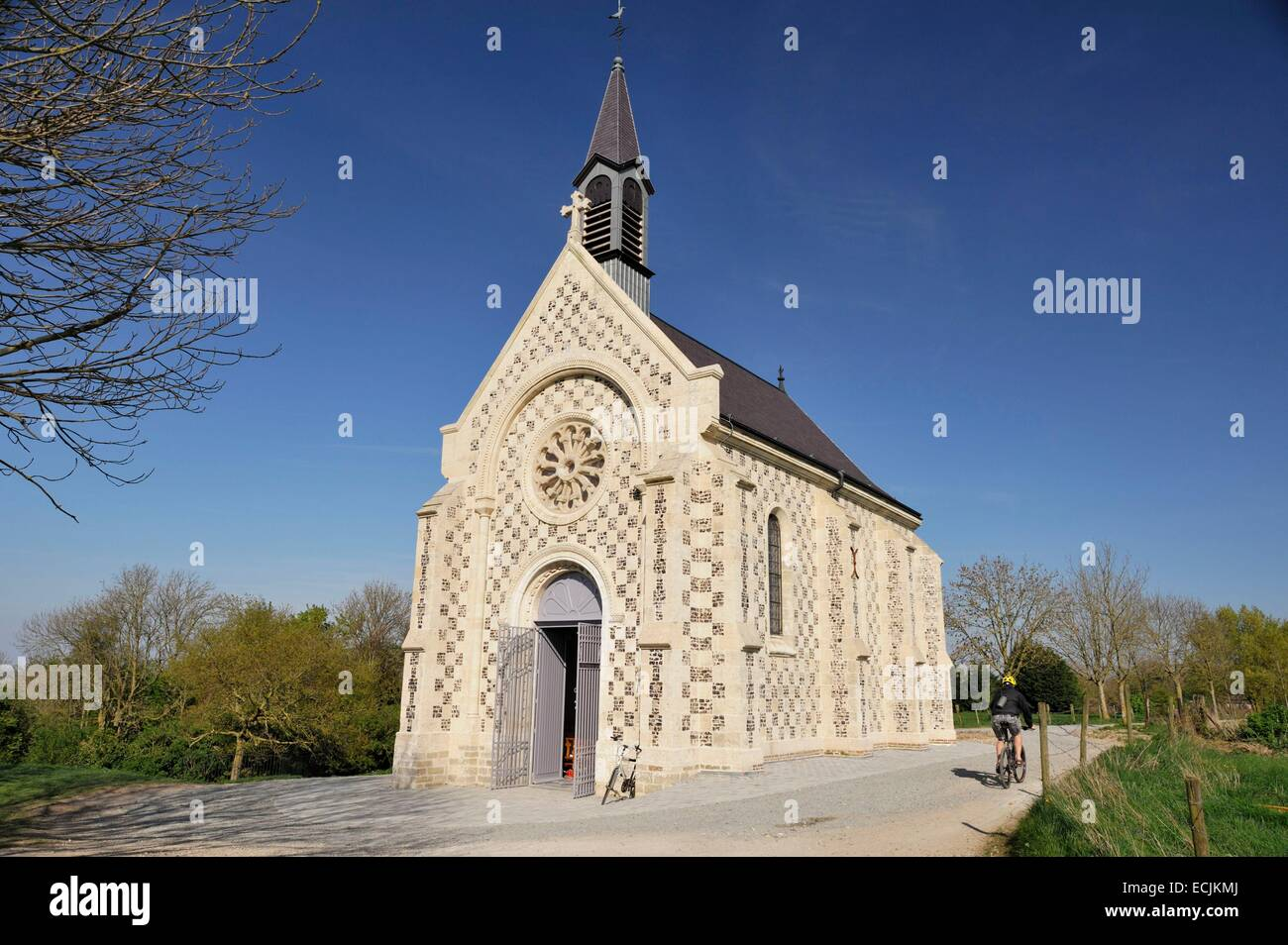 France, Somme, Saint Valery sur Somme, sailors' chapel restored in 2014 - Stock Image