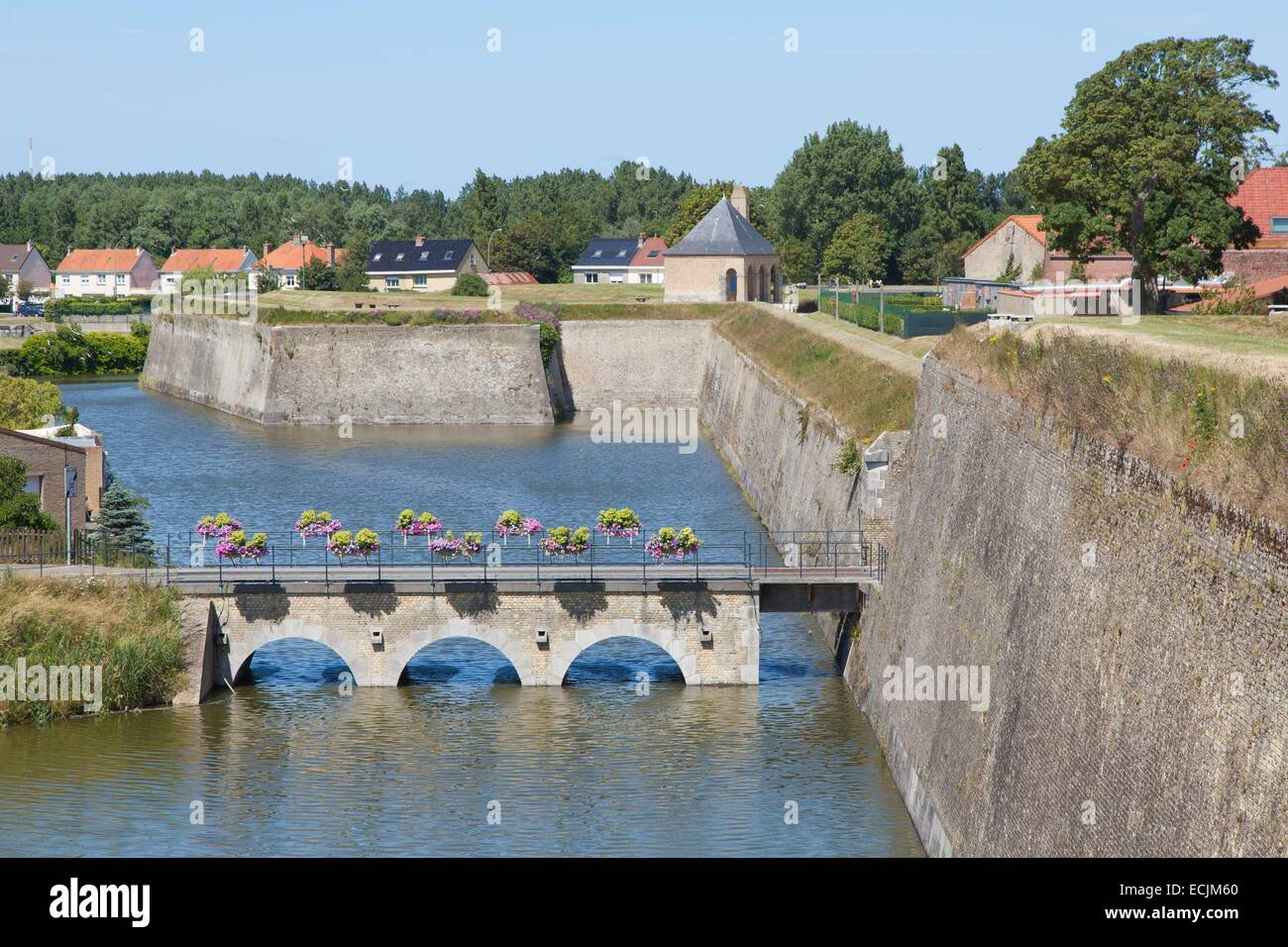 France, Nord, Gravelines, fortifications of Vauban - Stock Image