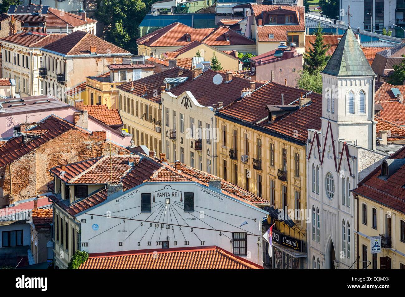 Republic of Macedonia, Bitola, general view of downtown - Stock Image