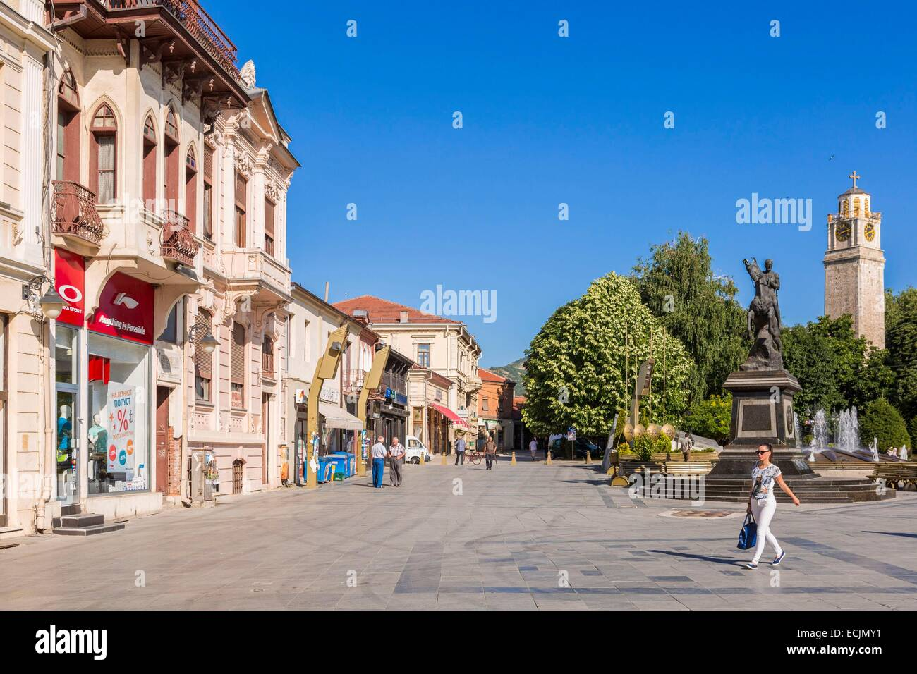 Republic of Macedonia, Bitola, downtown - Stock Image