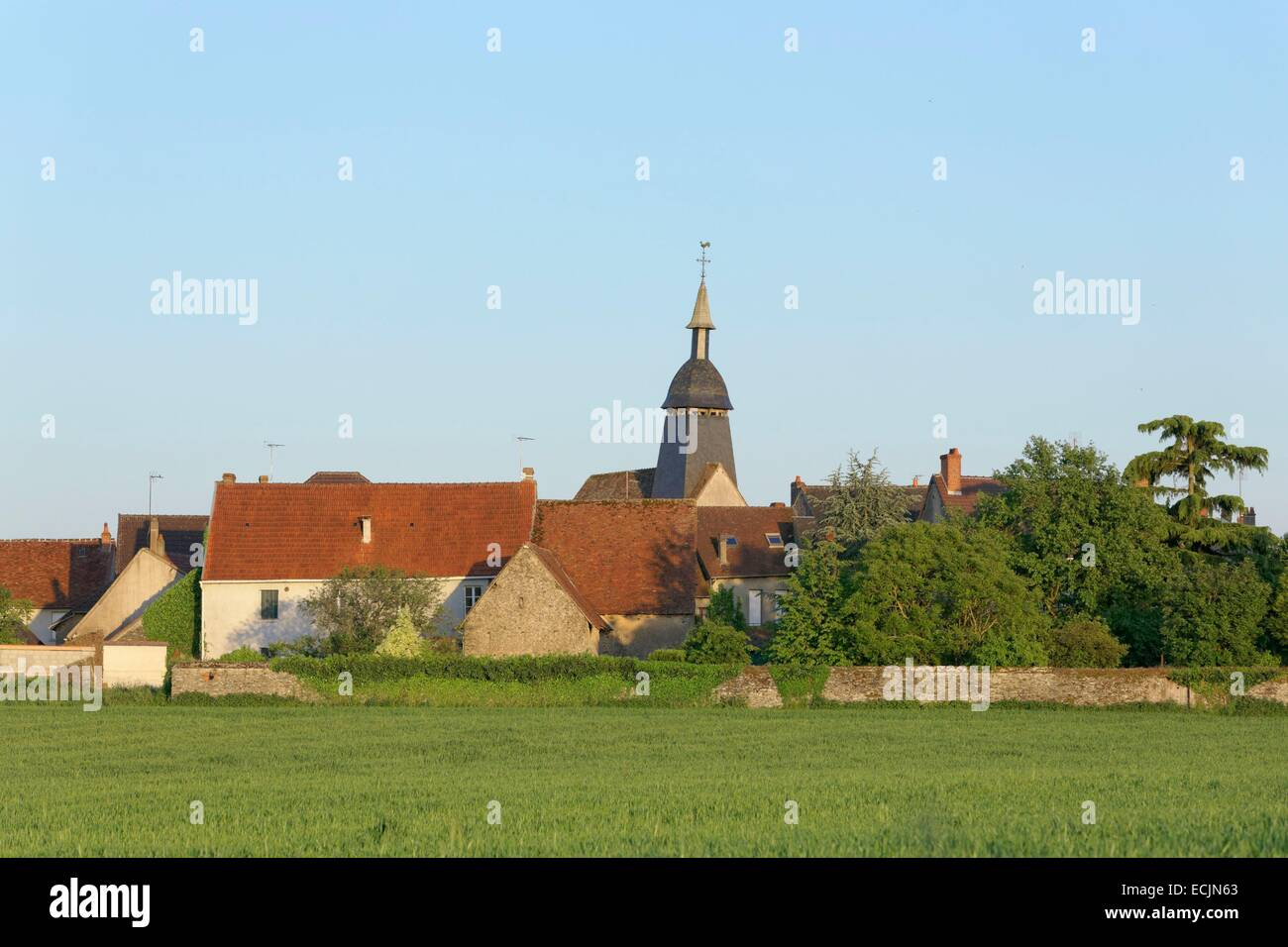 France, Creuse, Fresselines, Claude Monnet paint 23 paintings in this village, Creuse valley - Stock Image