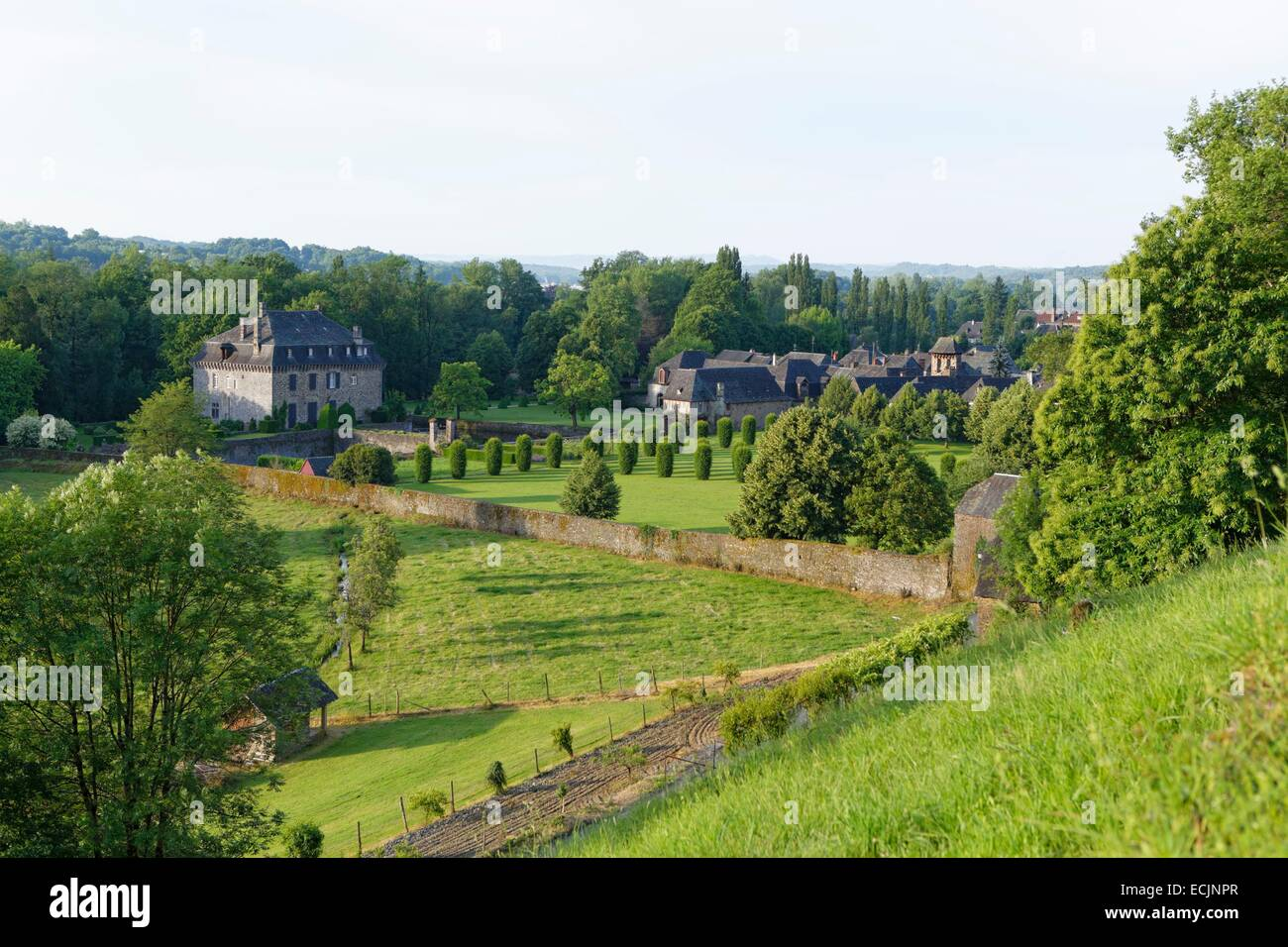 France, Correze, Le Saillant, castle of Mirabeau - Stock Image