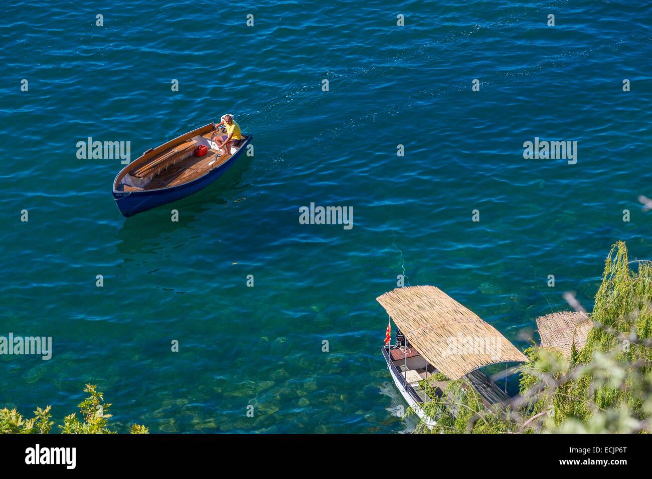 Republic of Macedonia, Lake Ohrid, listed as World Heritage by UNESCO Stock Photo