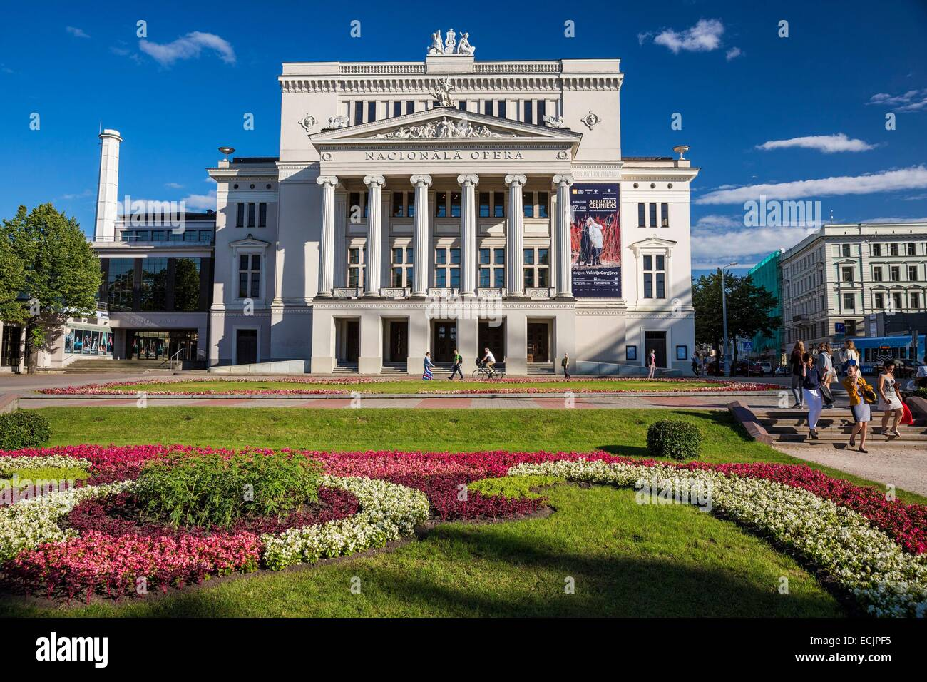 Latvia (Baltic States), Riga, European capital of culture 2014, National Opera House - Stock Image