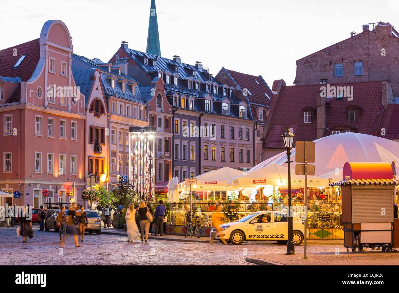 Latvia (Baltic States), Riga, European capital of culture 2014, historical centre listed as World Heritage by UNESCO, - Stock Image
