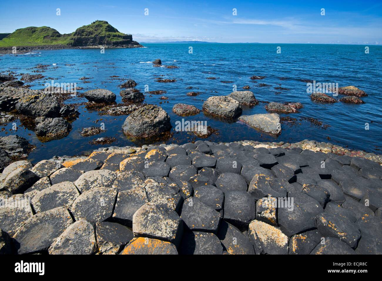 United Kingdom, Northern Ireland, County Antrim, the Giants Causeway listed as World Heritage by UNESCO - Stock Image