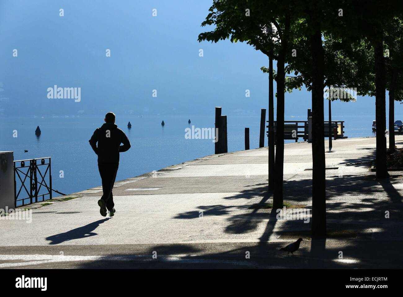 France, Haute Savoie, Annecy, Bayreuth dock on the shores of Lake Annecy - Stock Image