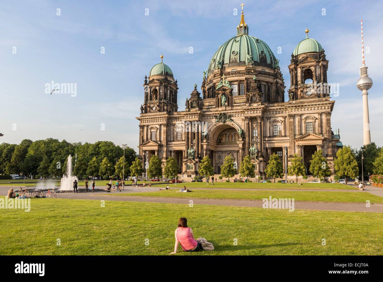 Germany, Berlin, East Berlin, Museum Island, listed as World Heritage by UNESCO, the Ester Berlin Dom, Berlin Cathedral - Stock Image