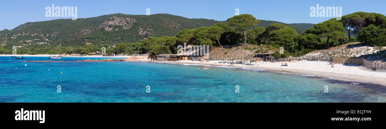 France, Corse du Sud, Porto Vecchio, Palombaggia beach Stock Photo