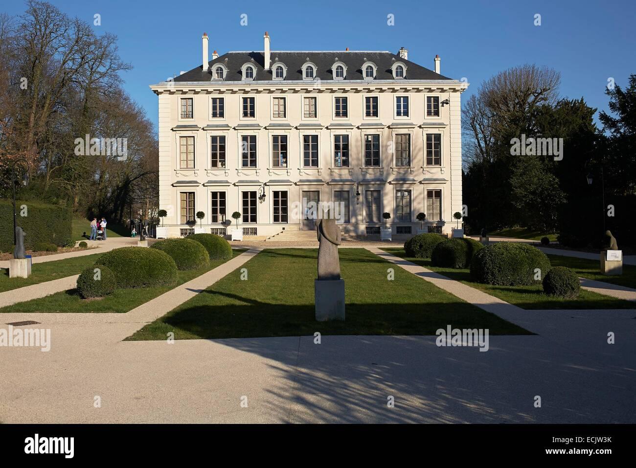 France Hauts De Seine Ville D Avray Chateau De Thierry Stock