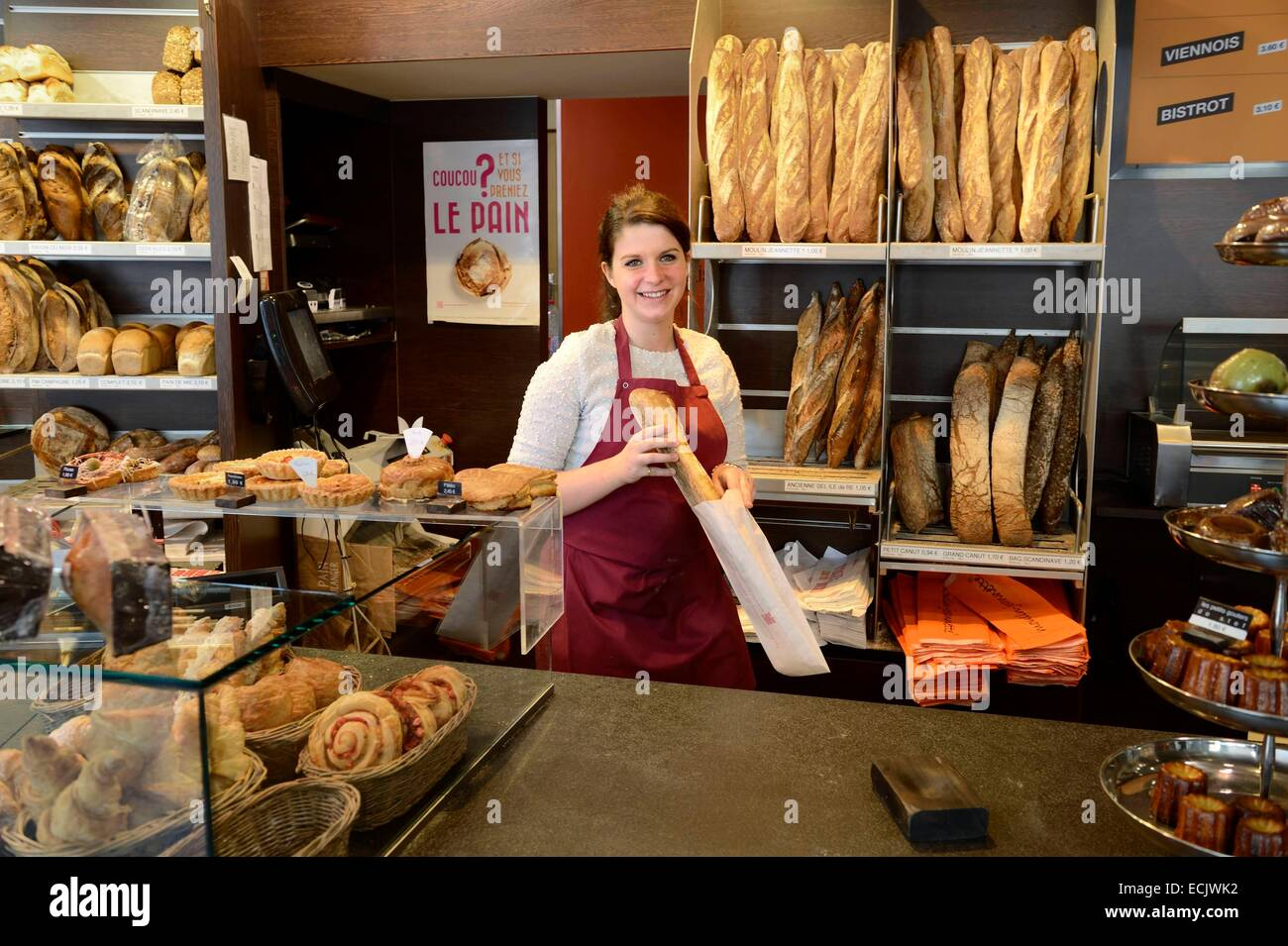 France, Meurthe et Moselle, Nancy, bakery and pastry Stef - Stock Image