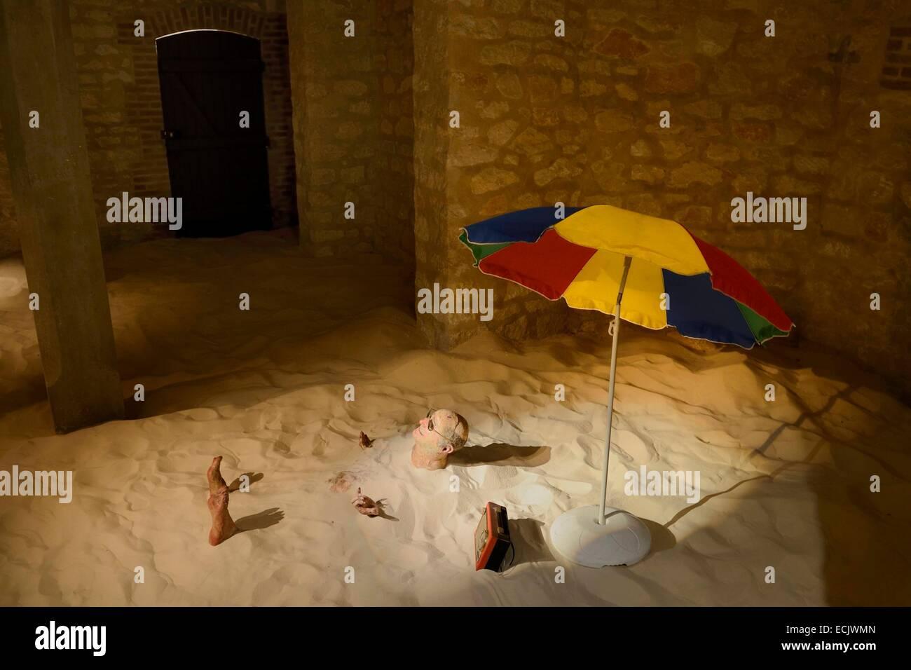 France, Marne, Reims, the Villa Demoiselle, Sunbath (2008) by Enrique Marty - Stock Image