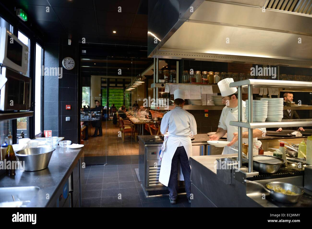 France marne reims brasserie le jardin in the domaine le cray res stock photo 76632667 alamy - Restaurant le jardin reims crayeres ...