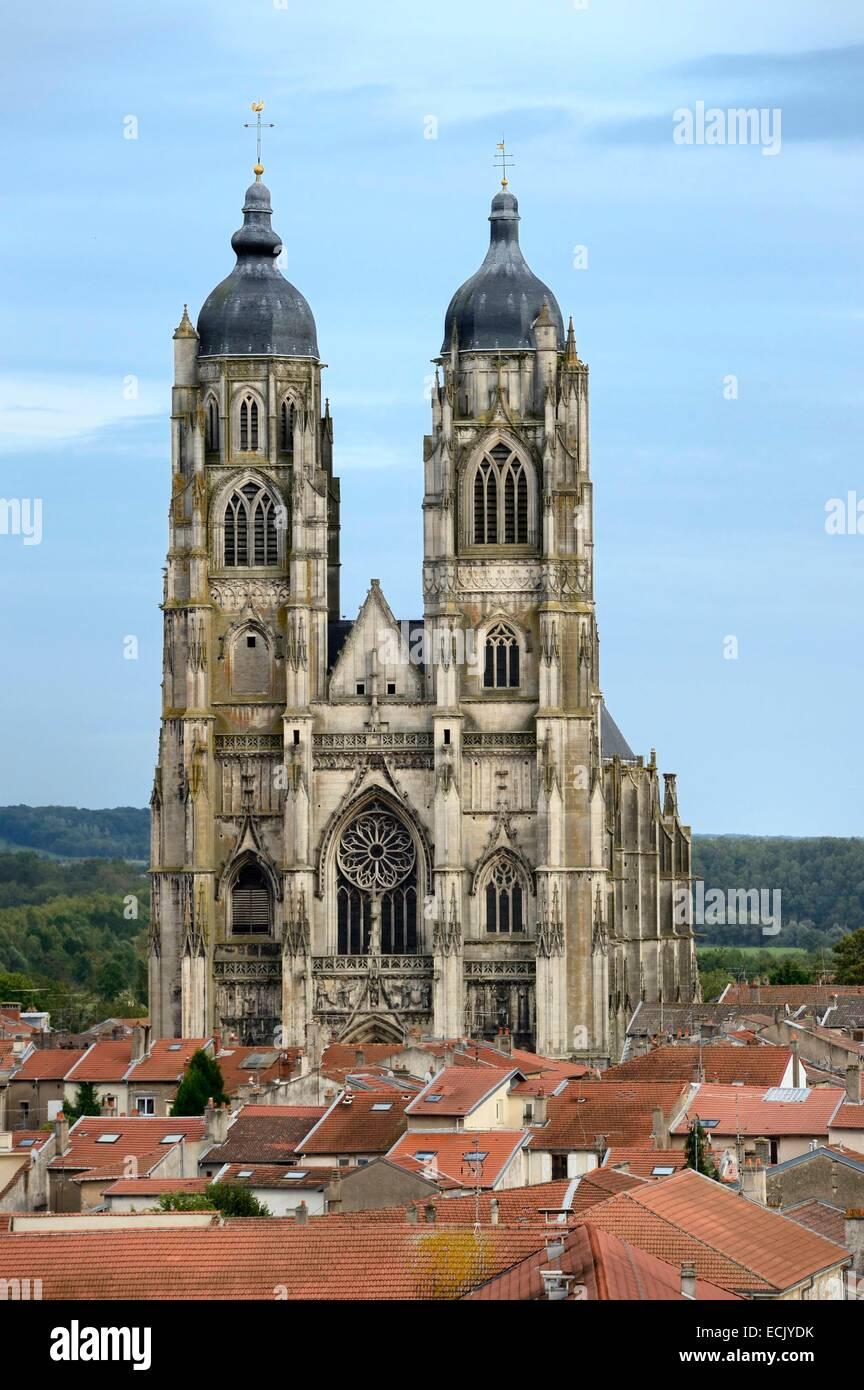 France, Meurthe et Moselle, Saint Nicolas de Port basilica and its bulb bell towers - Stock Image