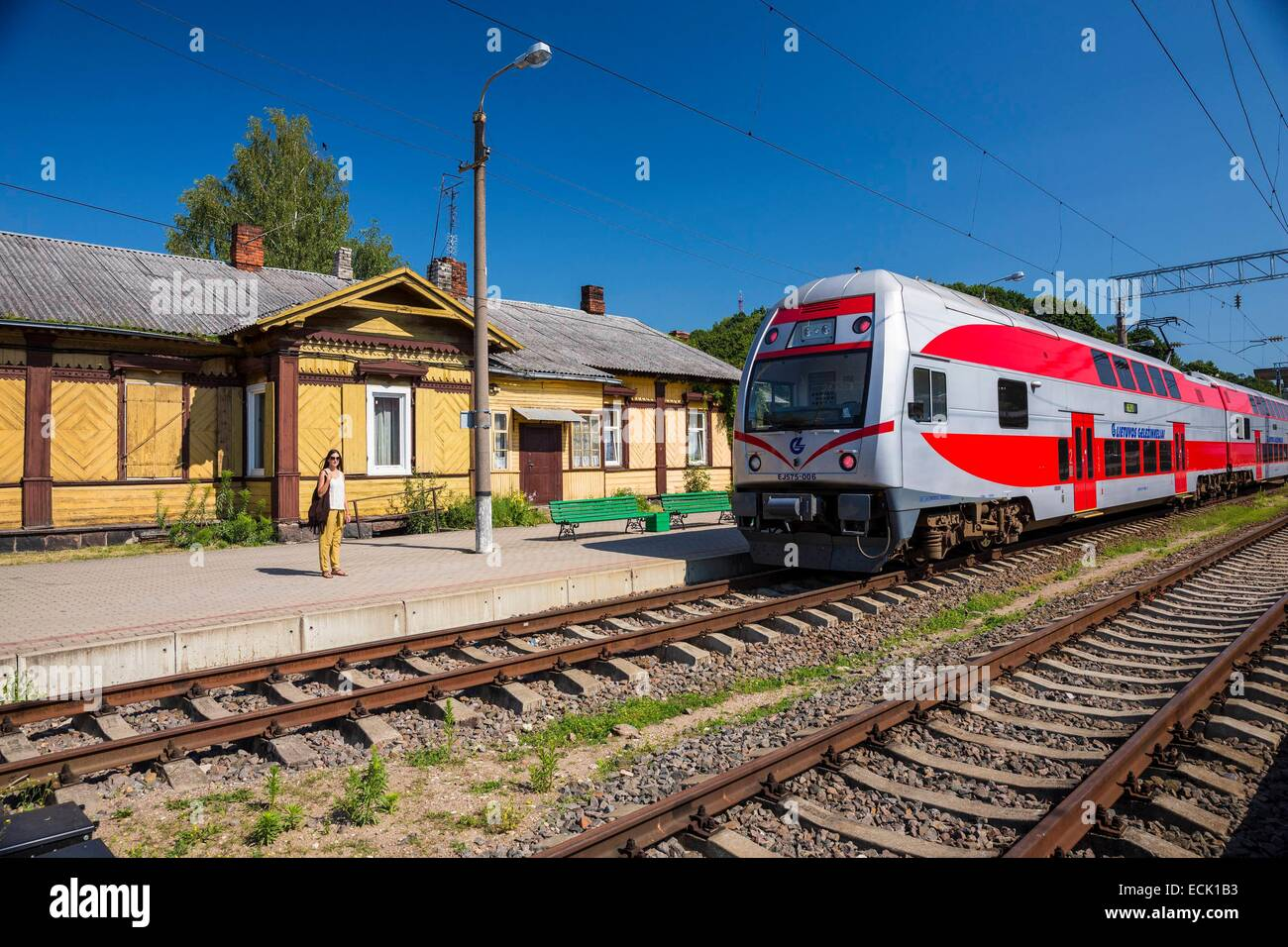 Lithuania (Baltic States), Kaunas County, Kaunas, the railway station - Stock Image