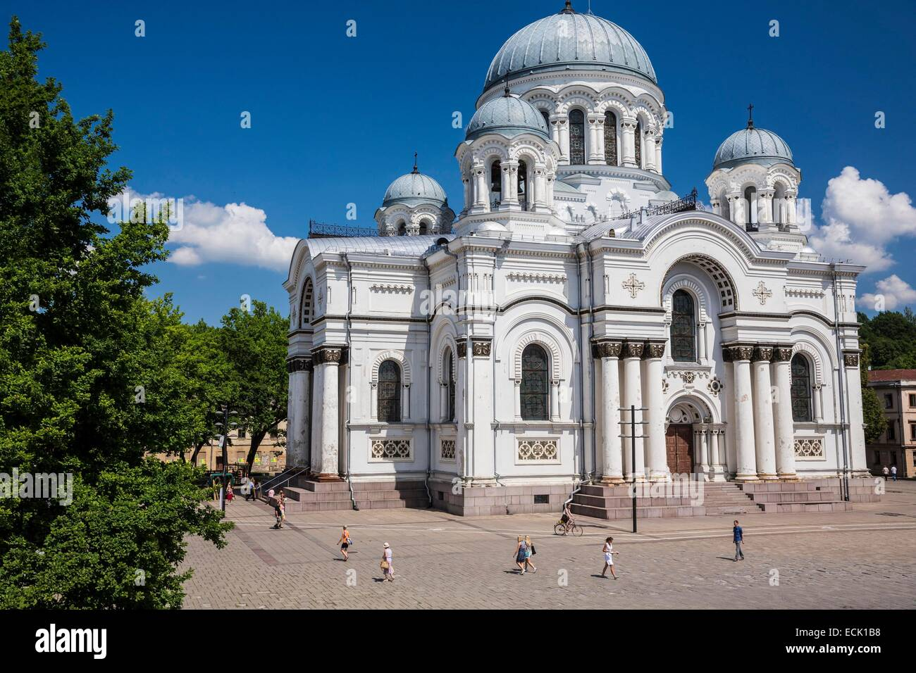 Lithuania (Baltic States), Kaunas County, Kaunas, church of Saint Michael the Archangel or Garrison church, Independence - Stock Image
