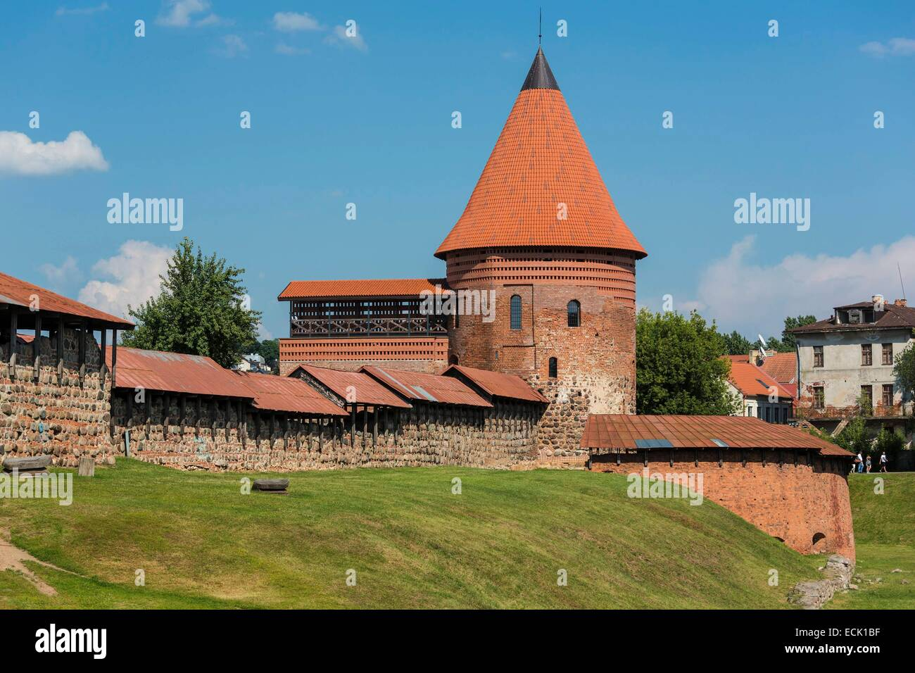 Lithuania (Baltic States), Kaunas County, Kaunas, Kaunas castle from the 13th century - Stock Image