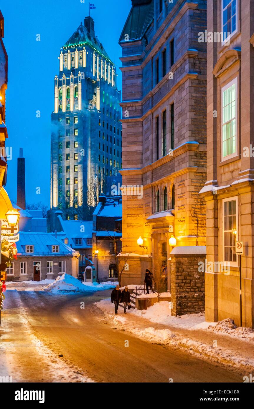 Canada, Quebec province, Quebec, Edifice Price buidling from Saint-Louis Street, up side quarter in old city listed - Stock Image