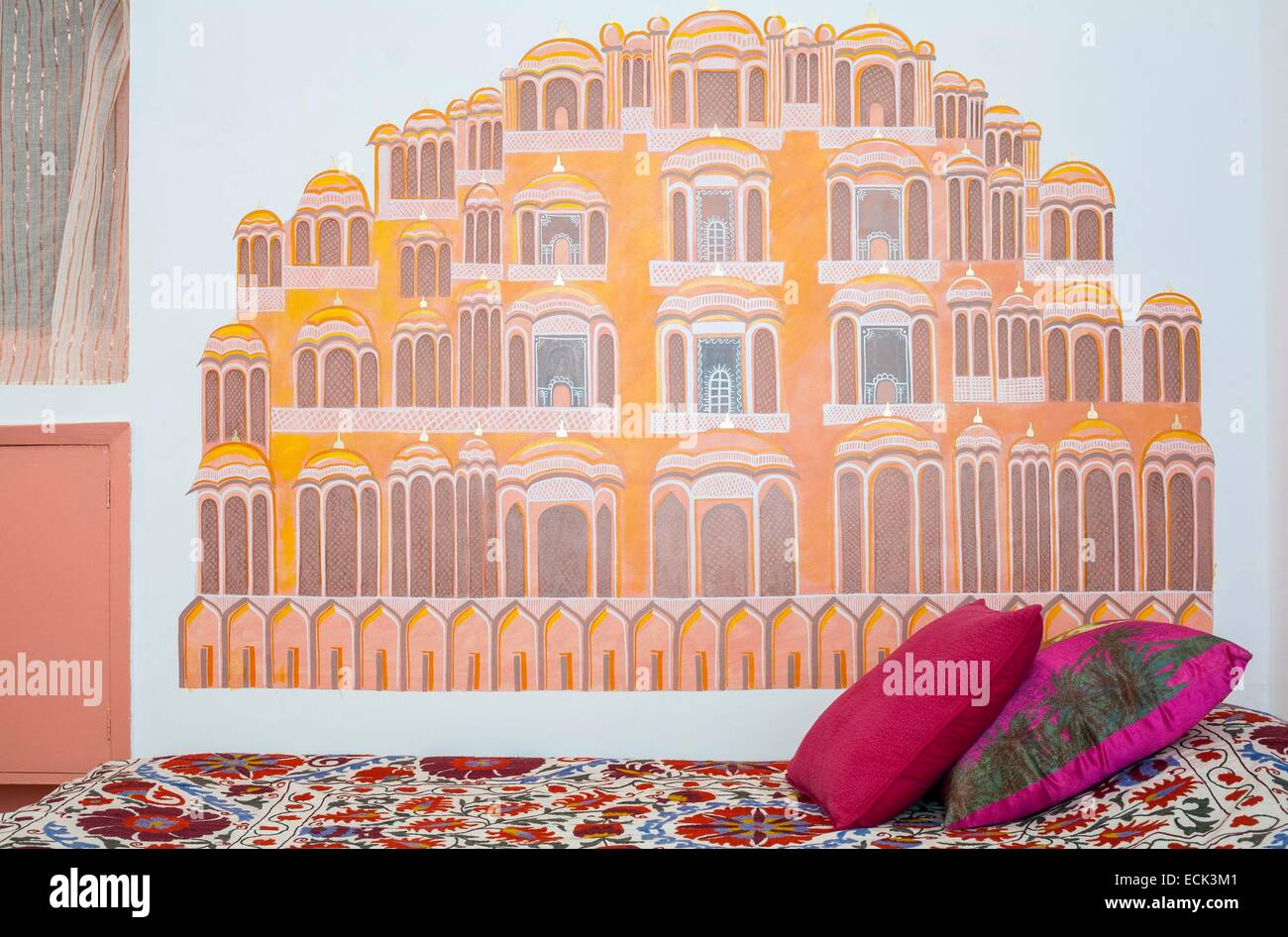 India, New Delhi, Hauz Khas Enclave, Hotel Haveli Amariah - Stock Image